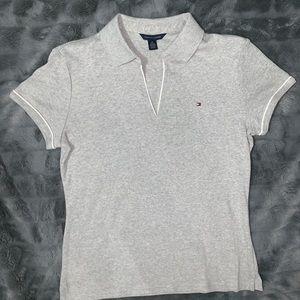 Tommy Hilfiger Grey Polo Size L